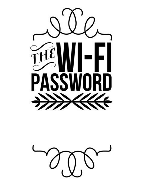 25 Best Ideas About Wifi Password Printable On Pinterest Wifi Password Free Wifi Password Wifi Sign Template