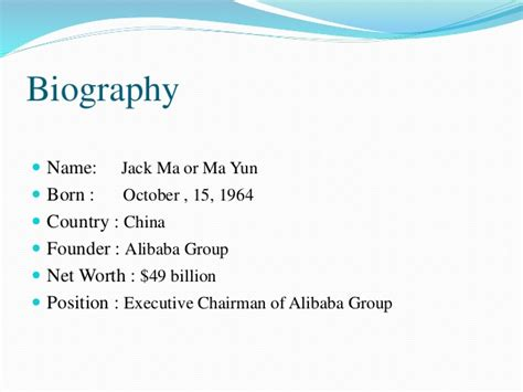 biography powerpoint presentation ppt on jack ma
