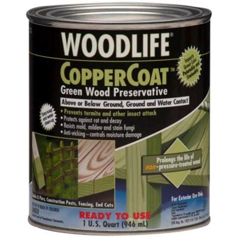 wolman 1 qt coppercoat green below ground wood
