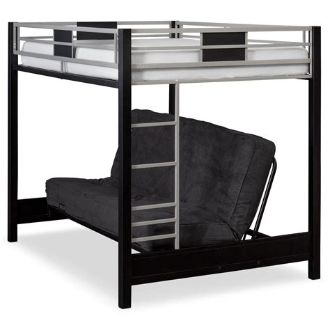 bunk bed with futon samba futon bunk bed with black futon mattress american signature furniture