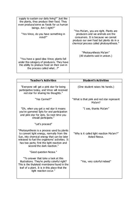 lesson plan template biology detailed lesson plan in biology