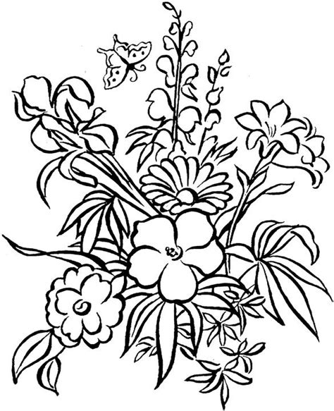 Free Flower Coloring Pages For Adults Flower Coloring Page Pretty Flower Coloring Pages