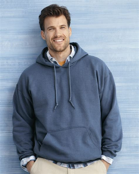 men s men s hooded fleece pullover with pouch pocket