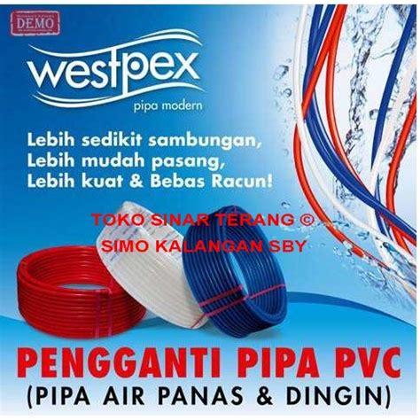 Terkini Pipa Air Panas 1 2 Selang Water Heater 2 Inch jual pipa air panas westpex 16 mm 1 2 quot merah water pipe wespex 1 2 toko sinar terang