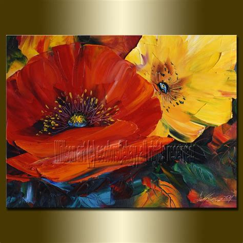 libro the modern flower painter original abstract floral oil painting poppy poppies