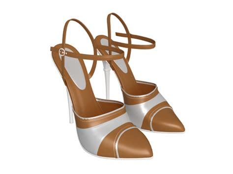 strappy high heel dress shoes 3d model 3ds max files free modeling 21609 on cadnav
