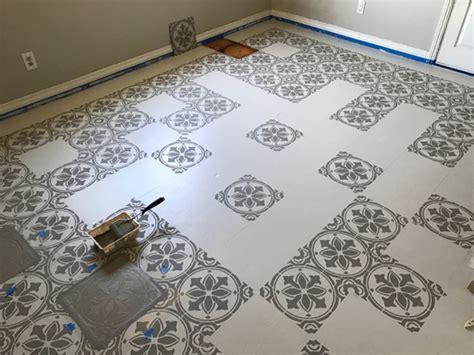 Jazz    Kitchen Floor   Tile Stencil Stencil