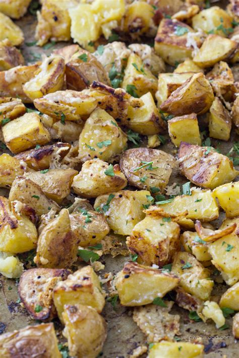 parmesan roasted oven roasted parmesan garlic potatoes recipe dishmaps