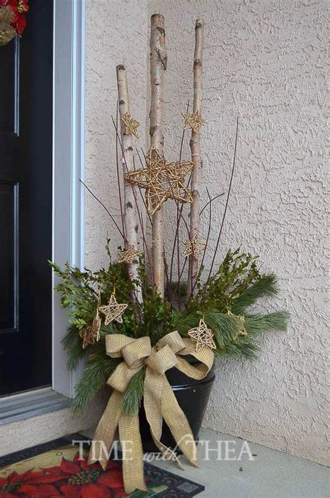 easily   starry birch log christmas