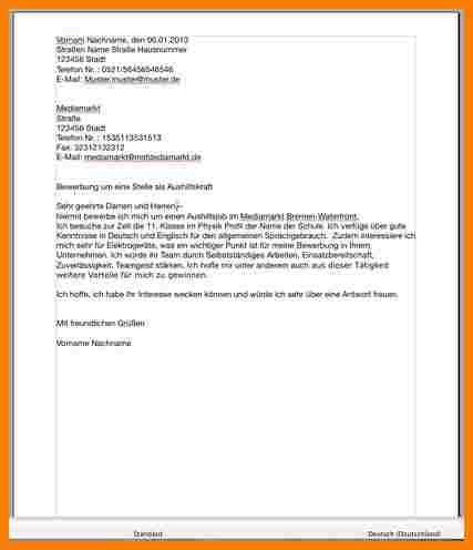 Bewerbungsschreiben Ausbildung Zur Verk Uferin bewerbungsschreiben im einzelhandel bewerbungsschreiben