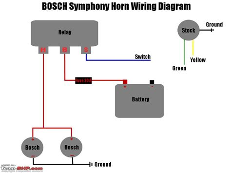 horn relay wiring diagram image gallery horn relay