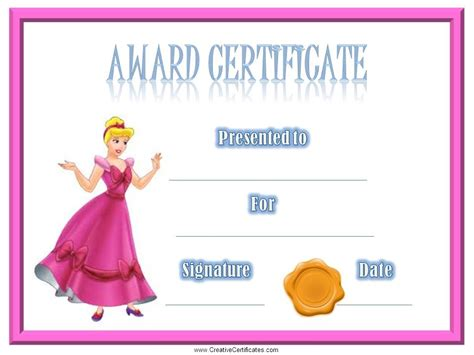 certificate template for children best photos of free printable award certificate templates