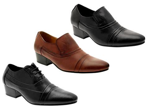 mens high heel shoes uk mens smart cuban heels formal wedding office shoes slip on