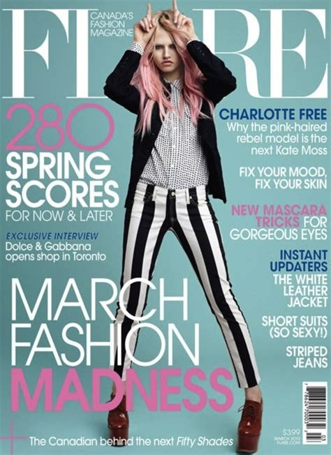 To Be A Magazine Cover Model by Pink Haired Model Free Covers Flare Magazine