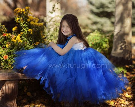 Dress Tutu Blue White royal blue tutu dress with white lace