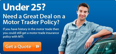 Motor Trade Insurance Under 25 by Under 25 Motor Trade Insurance