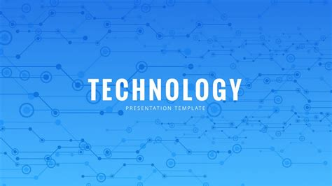 Blue Tech Free Powerpoint Template Powerpointify Technology Templates