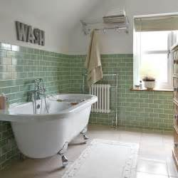 Traditional bathroom tile ideas green bathroom with metro