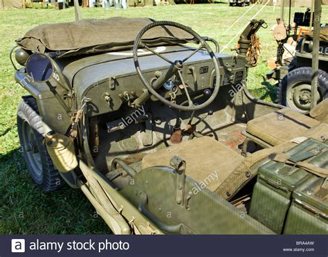 army jeep ww2 interior view of wwii era willys us army jeep stock photo