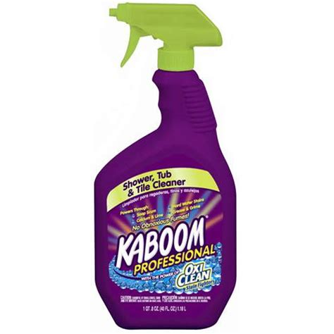 bathroom tub cleaner shop kaboom 40 oz shower and bathtub cleaner at lowes com