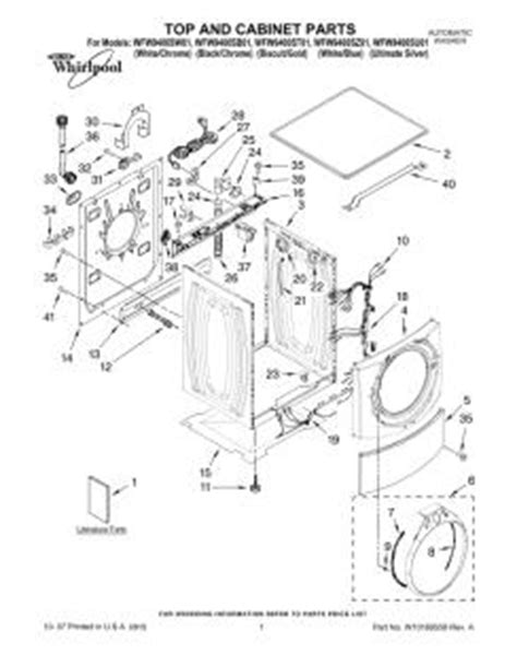 whirlpool ultimate care ii washer parts diagram wfw9400sw01 whirlpool automatic washer parts and diagrams