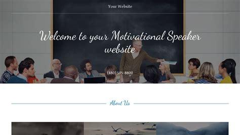 Exle 11 Motivational Speaker Website Template Godaddy Speaker Website Templates