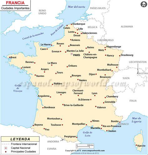 imagenes satelitales de francia francia ciudades mapa las principales ciudades de francia