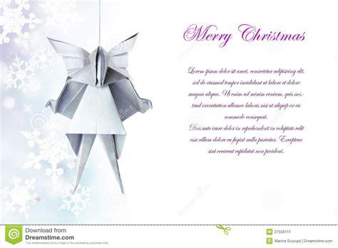 Engel Origami - weihnachtensilberner origami engel stockbild bild 27556111