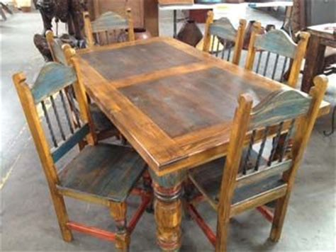 Southwest Style Table Ls by Rustic Southwest For The Living Room Our Six Foot Mexican Style Dining Set Is