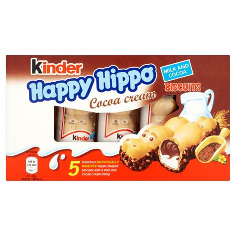 Uha Chocolate Milk 103 5g kinder happy hippo cocoa biscuits 5 x 20 7g 103g