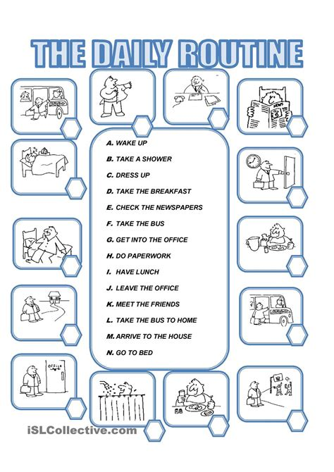 english printable worksheets daily routine daily routine teaching pinterest daily routines