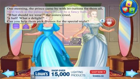 dressing an intimate story books cinderella tale dress up storybook app review