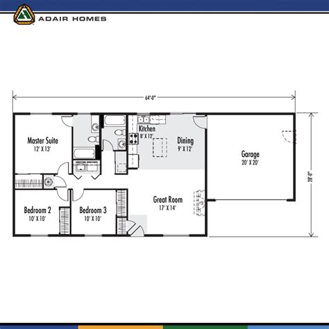 adair floor plans adair homes the ainsworth 1232 home plan