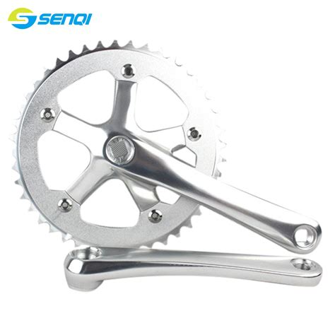 Crank Fixie Alloy 44t Pacific aluminum alloy 170mm cycling fixed gear chain wheel crankset 44t crank with 2 dust cover bike
