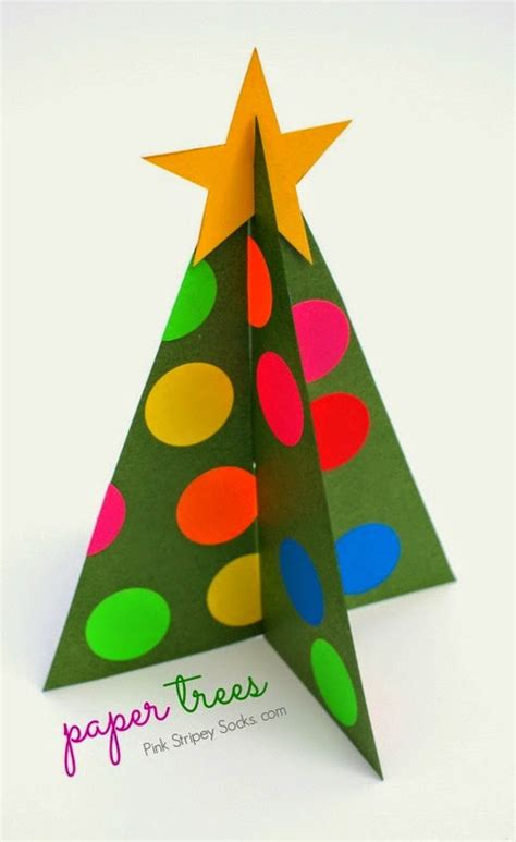 printable paper christmas tree paper christmas trees template included pink stripey socks