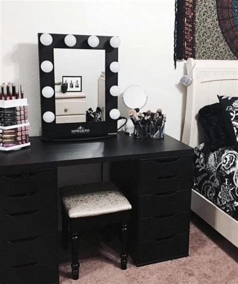 black makeup desk with drawers 25 best ideas about black makeup vanity on