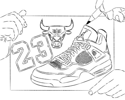 nba coloring pages michael jordan nba chicago bull basketball shoes coloring pages enjoy