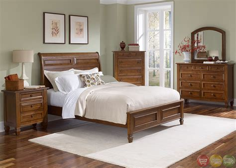 cherry finish bedroom furniture taylor springs bronze cherry finish sleigh bedroom set