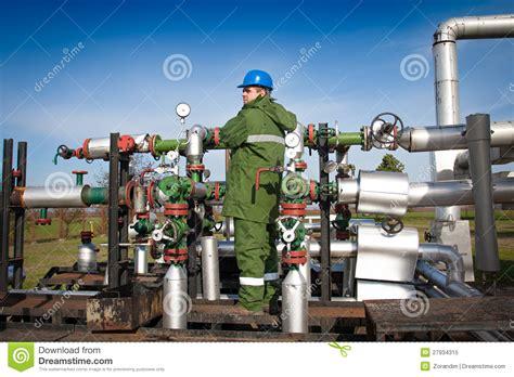 gas production operator royalty free stock photo image