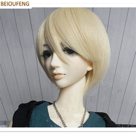 1 3 1 4 1 6 Bjd Wig Heat Resistant Curly beioufeng 1 3 1 4 1 6 bjd doll wigs high temperature wire bjd wig synthetic doll