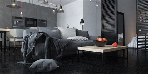 dark interior dark themed interiors using grey effectively for interior design