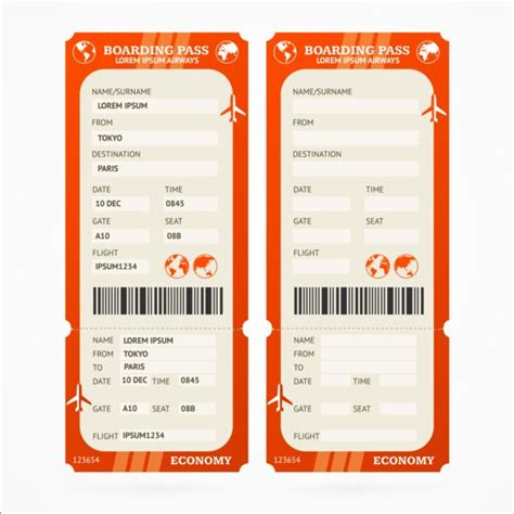 tickets design template airline tickets template design vector 06 vector