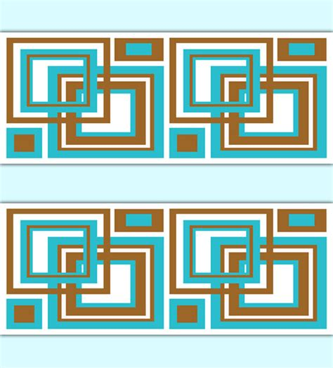 Zc Wallpaper Brown Square geometric wallpaper border turquoise brown square wall