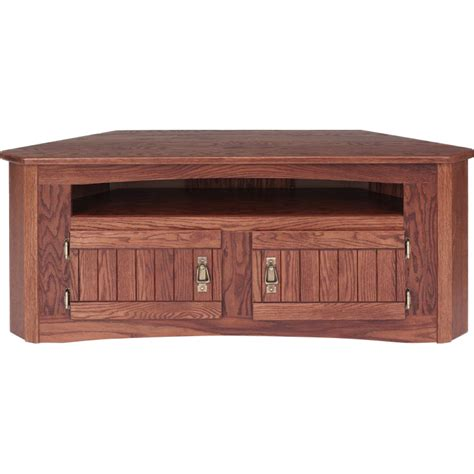 mission style corner tv cabinet solid oak mission style corner tv stand w cabinet 49