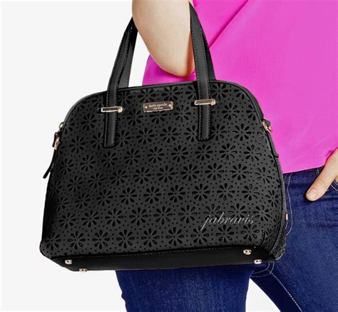 Kate Spade Maise Cedar Perforated Satch Bag kate spade black cedar perforated leather maise