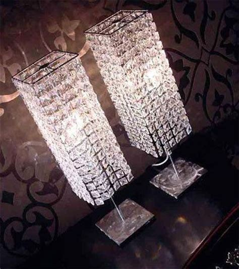 crystal lamps  tables  interiors