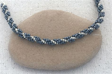 how to make beaded rope necklace easy spiral stitch rope