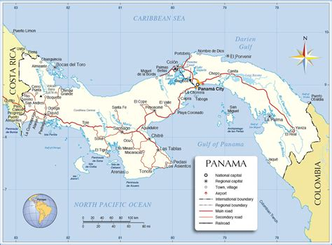 panama city on map panama svelizabethjean