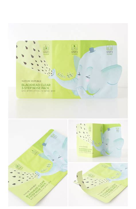 Harga Nature Republic Blackhead Clear 3 Step Nose Pack nature republic blackhead clear 3 step nose pack 6 2g 3