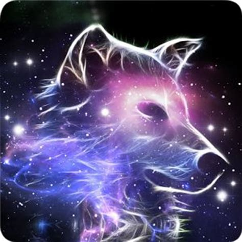 wallpaper galaxy wolf free moving wolf wallpaper galaxy wolf lwp magic effect